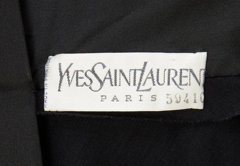 Yves Saint Laurent Haute Couture Dress black, Circa 1983 In Excellent Condition For Sale In London, GB