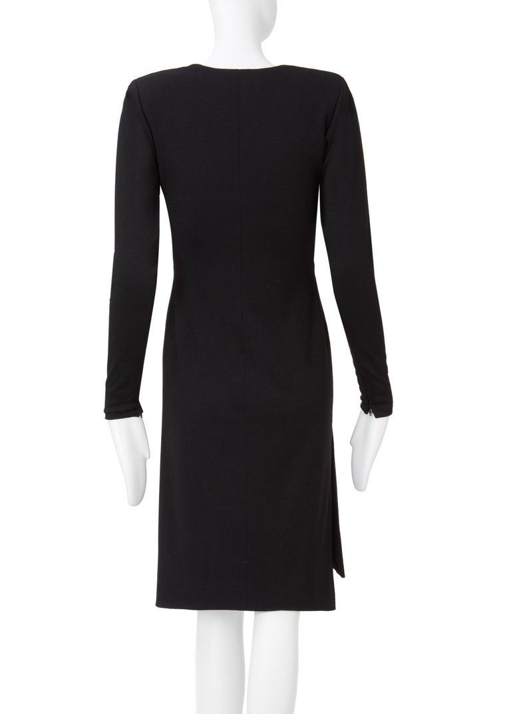 Women's Yves Saint Laurent Haute Couture Dress black, Circa 1983 For Sale