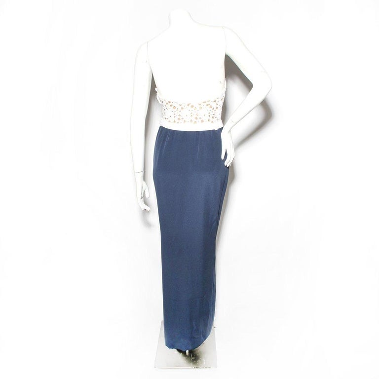 Yves Saint Laurent Haute Couture Lace Dress In Good Condition For Sale In Los Angeles, CA