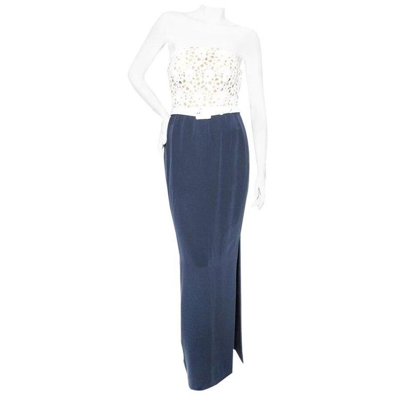 Yves Saint Laurent Haute Couture Lace Dress For Sale