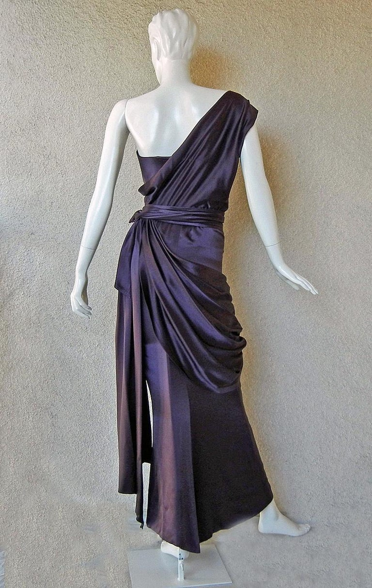 Black Yves Saint Laurent Haute Couture Red Carpet Ready Runway Gown  For Sale