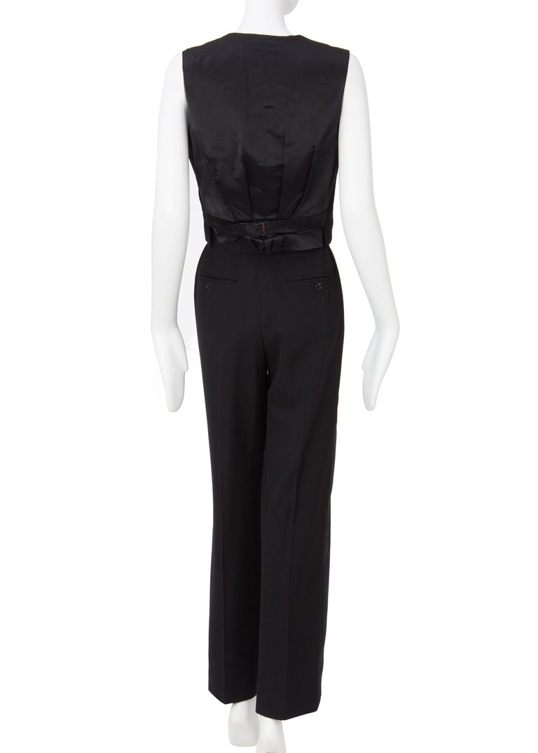 Yves Saint Laurent Haute Couture Spring/Summer 1991 Black Smoking  For Sale 6