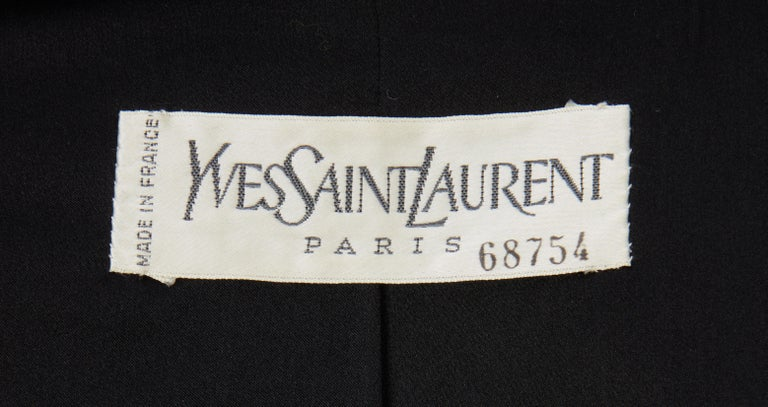 Yves Saint Laurent Haute Couture Spring/Summer 1991 Black Smoking  For Sale 1