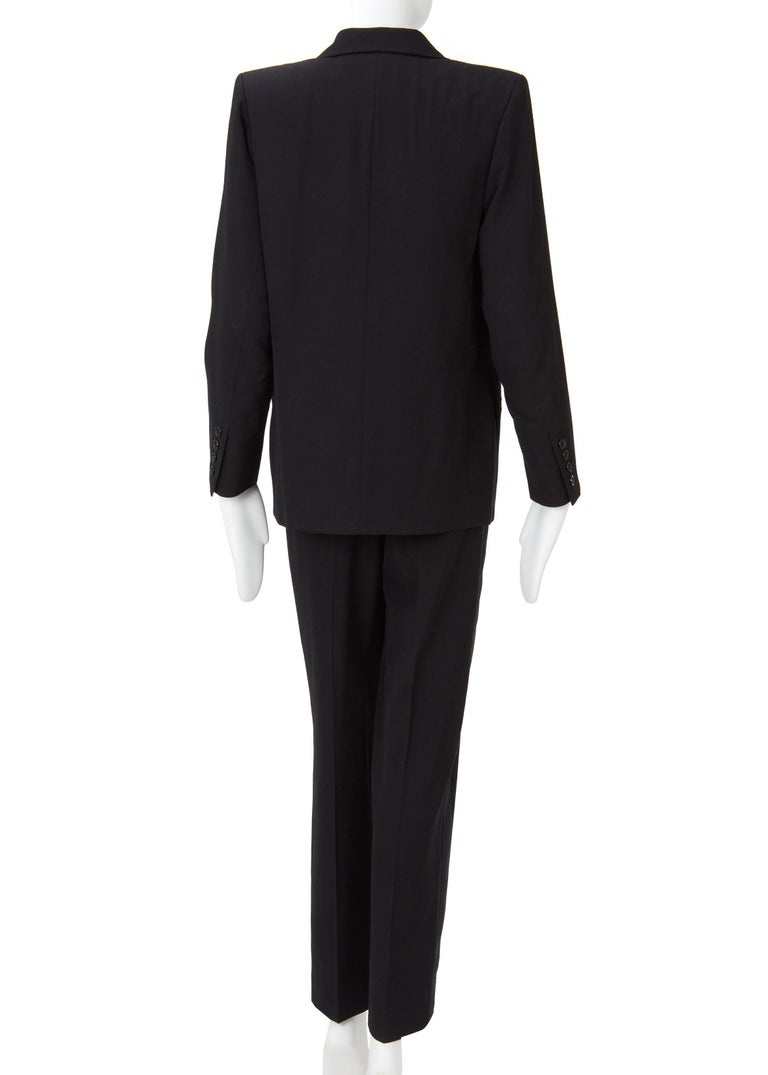 Yves Saint Laurent Haute Couture Spring/Summer 1991 Black Smoking  For Sale 4