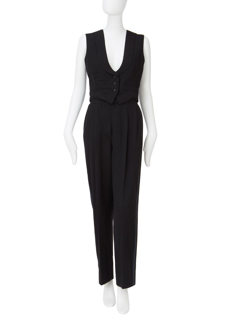 Yves Saint Laurent Haute Couture Spring/Summer 1991 Black Smoking  For Sale 5