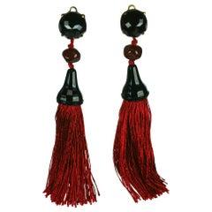 Yves Saint Laurent Haute Couture Tassel Earrings