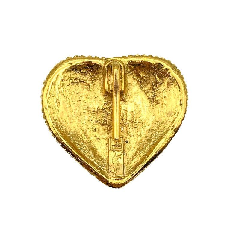 Women's or Men's Yves Saint Laurent Chunky Heart Pendant 1980s For Sale
