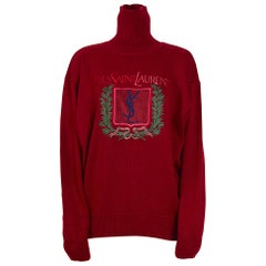 """Yves Saint Laurent """"Homme"""" vintage 80s unworn with tag signed wool sweater"""