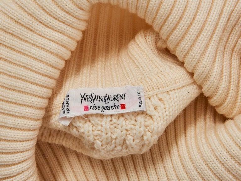 Women's Yves Saint Laurent Ivory Fringed Tunic For Sale