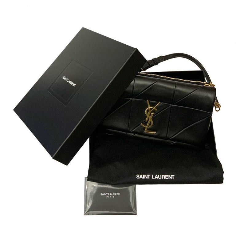 Yves Saint Laurent Jamie WOC Wallet on Chain Black Bag In Good Condition For Sale In Geneva, CH
