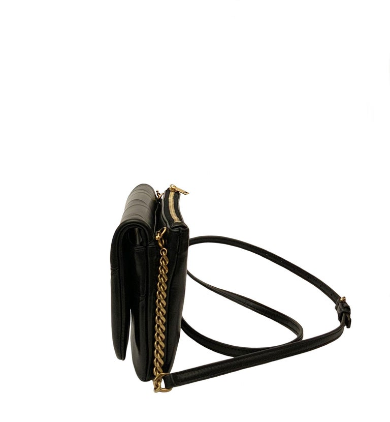 Yves Saint Laurent Jamie WOC Wallet on Chain Black Bag For Sale 1