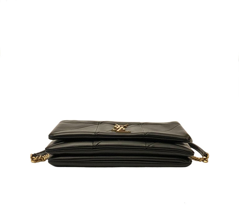 Yves Saint Laurent Jamie WOC Wallet on Chain Black Bag For Sale 2
