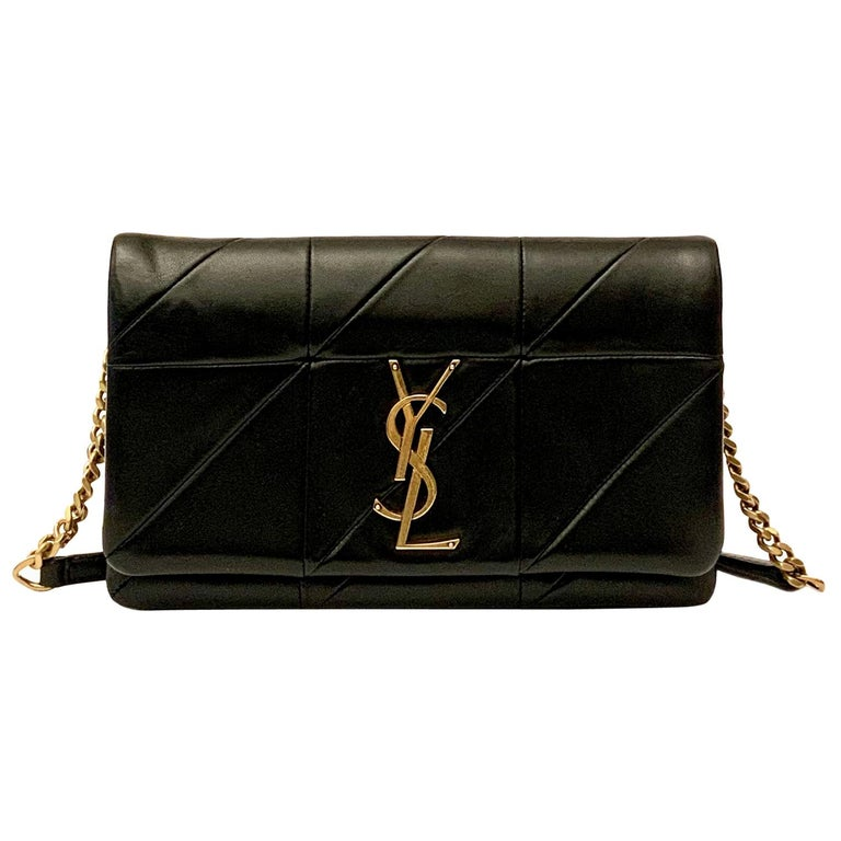 Yves Saint Laurent Jamie WOC Wallet on Chain Black Bag For Sale