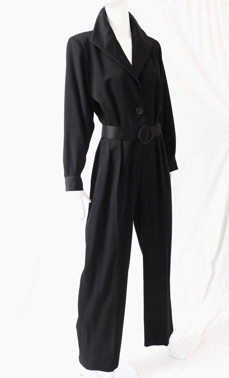 Yves Saint Laurent Jumpsuit YSL Rive Gauche Black Tuxedo Le Smoking Sz 40 For Sale 3