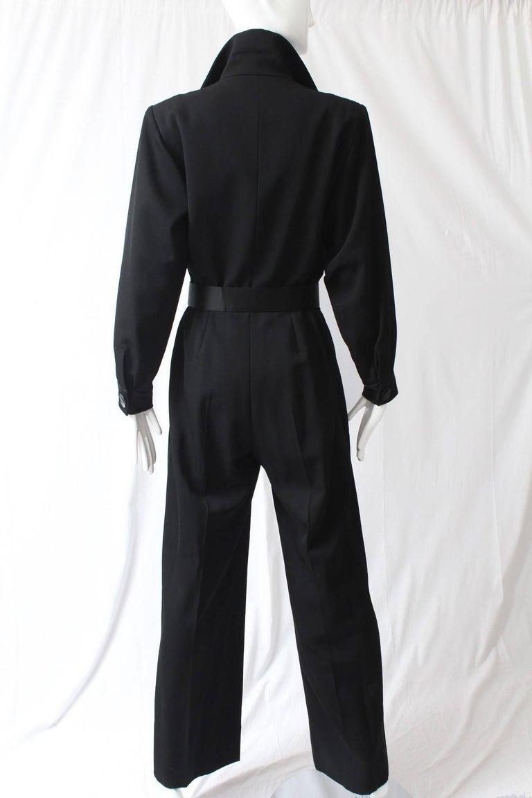 Yves Saint Laurent Jumpsuit YSL Rive Gauche Black Tuxedo Le Smoking Sz 40 For Sale 4