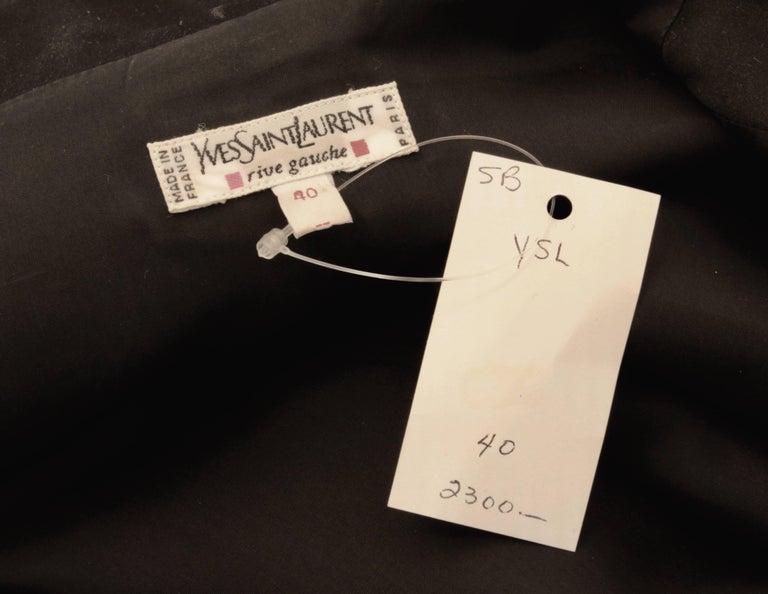 Yves Saint Laurent Jumpsuit YSL Rive Gauche Black Tuxedo Le Smoking Sz 40 For Sale 5