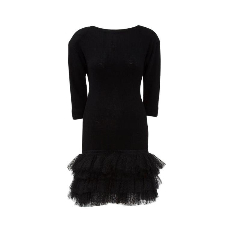 Yves Saint Laurent Knit & Tulle Mini Dress, Fall-Winter 1988