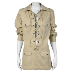 Yves Saint Laurent Lace-Up Safari Tunic
