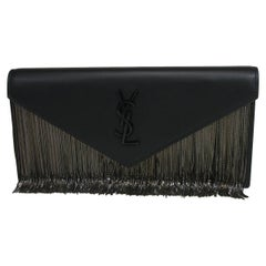 Yves Saint Laurent Le Sept Fringed Pouch in black leather / SOLD OUT in shop YSL