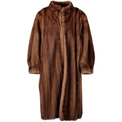 Yves Saint Laurent Long Brown Fur Coat