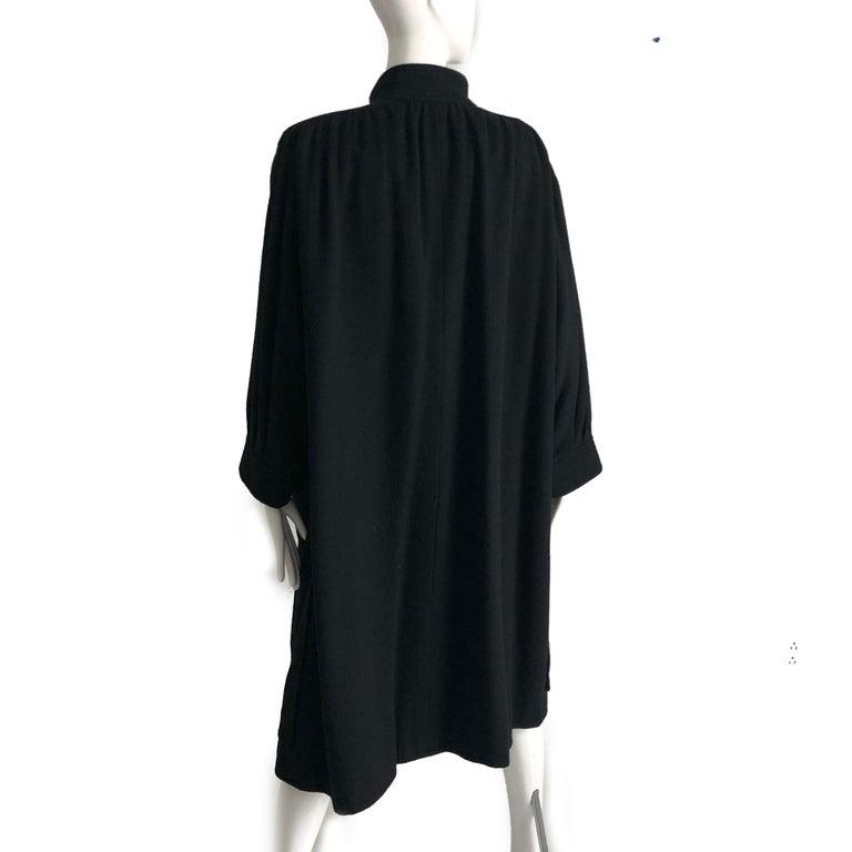 Yves Saint Laurent Long Wool Coat YSL Vintage 70s Sz38 For Sale 1