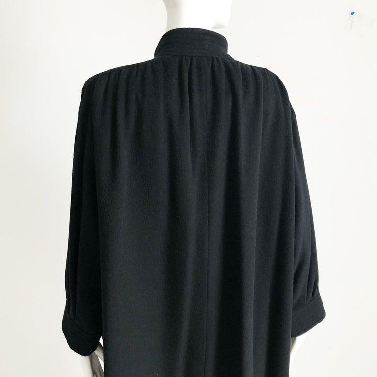 Yves Saint Laurent Long Wool Coat YSL Vintage 70s Sz38 For Sale 2