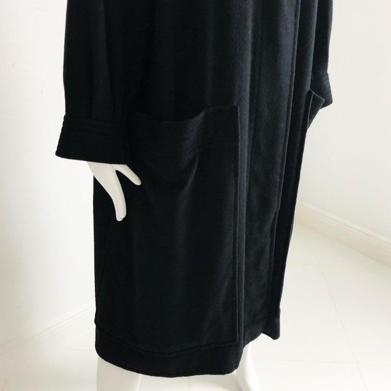 Yves Saint Laurent Long Wool Coat YSL Vintage 70s Sz38 For Sale 3