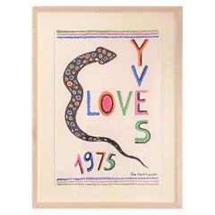 "Yves Saint Laurent ""Love"" Lithograph Poster, 1975"