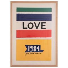 Yves Saint Laurent Love Poster, 1984