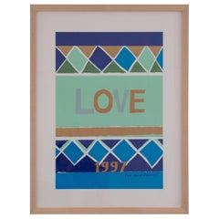 Yves Saint Laurent Love Poster, 1997