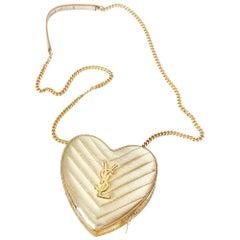 Yves Saint Laurent Matelasse Chevron Heart Bag