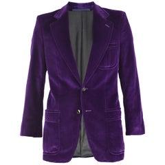 Yves Saint Laurent Men's YSL Deep Purple Velvet Evening Dinner Jacket