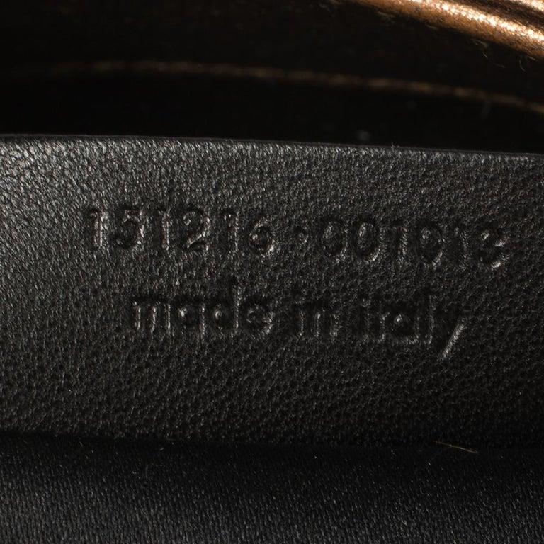 Yves Saint Laurent Metallic Bronze Leather Sac Bow Hobo For Sale 4