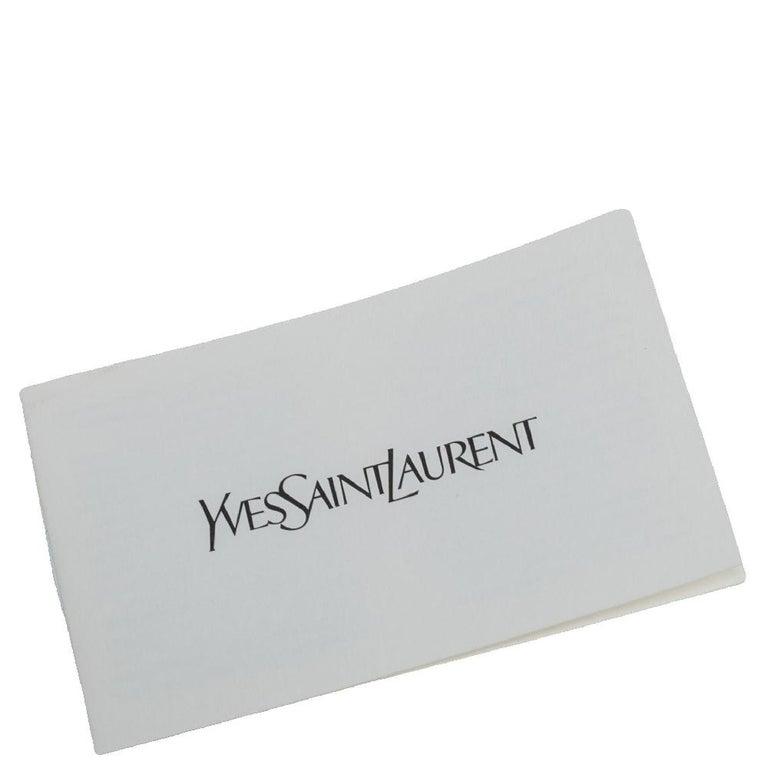 Yves Saint Laurent Metallic Leather Belle De Jour Flap Clutch For Sale 2