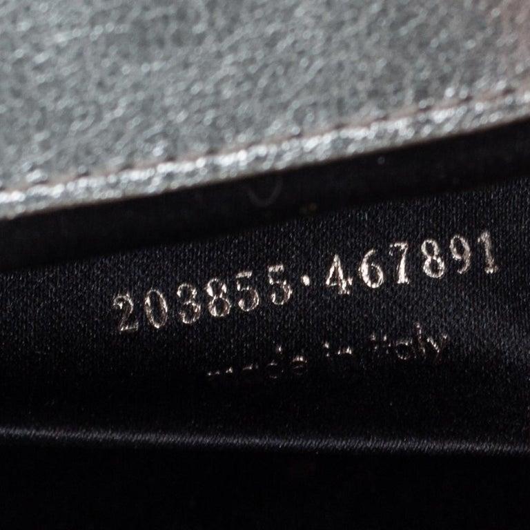 Yves Saint Laurent Metallic Leather Belle De Jour Flap Clutch For Sale 4