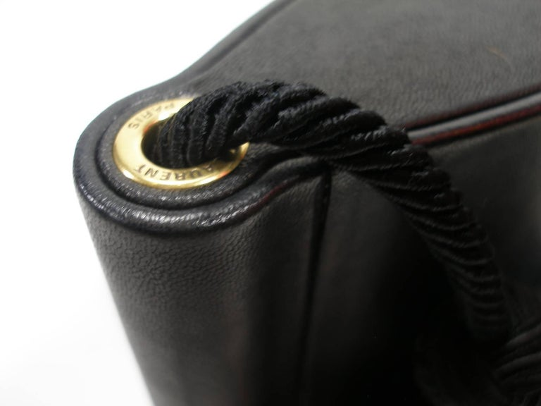 Yves Saint Laurent Minaudière à Pompons cuir et métal doré  For Sale 6