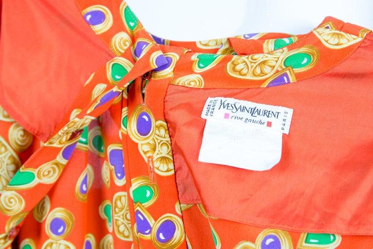 Yves Saint Laurent Multico Jewel Silk Dress Catwalk 1993s  For Sale 1