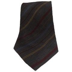 Yves Saint Laurent multicoloured silk tie