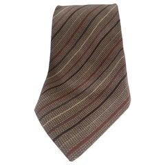 Yves Saint Laurent multicoloured wool tie
