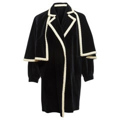 Yves Saint Laurent Navy Cape Coat