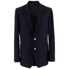 Yves Saint Laurent Navy Men's Single Breasted Jacket - Size IT 52R