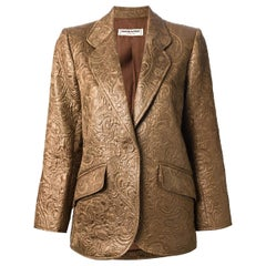 Yves Saint Laurent Nut Silk Brocade Blazer