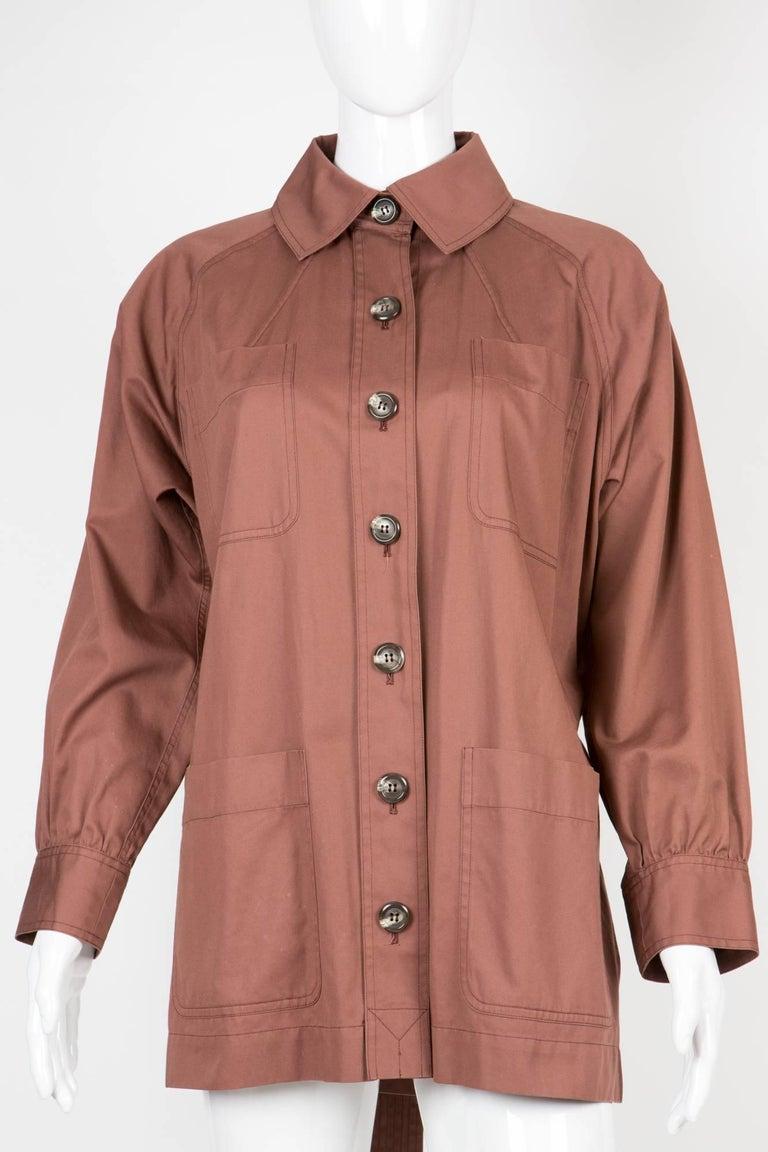 Women's Yves Saint Laurent Nut YSL Safari  Cotton Jacket For Sale