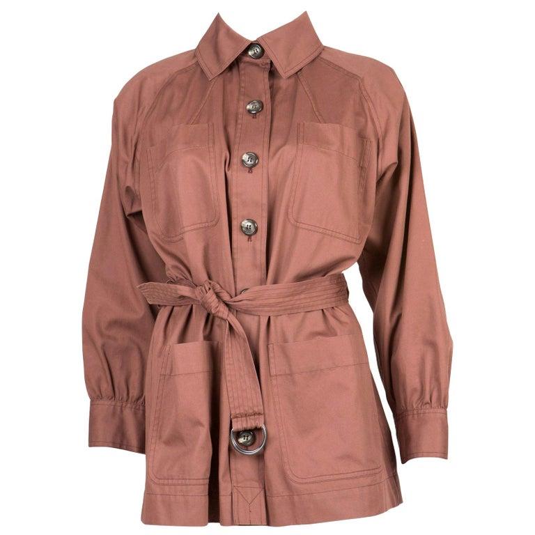 Yves Saint Laurent Nut YSL Safari  Cotton Jacket For Sale