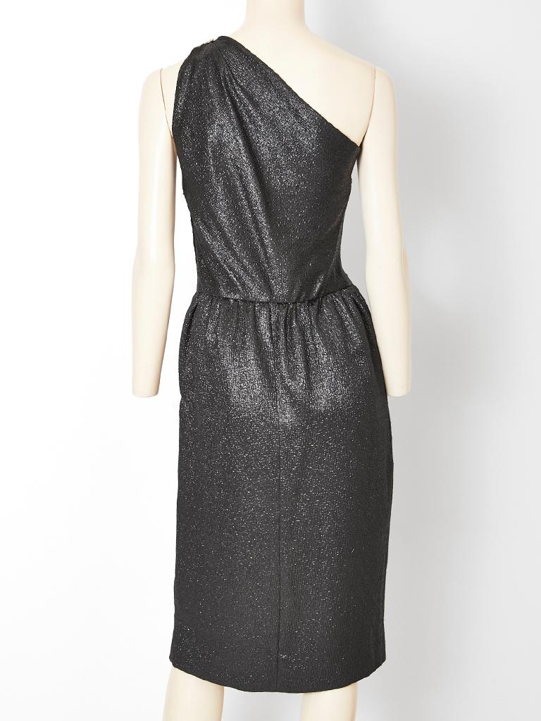 Women's Yves Saint Laurent One Shoulder Cocktail Dress For Sale