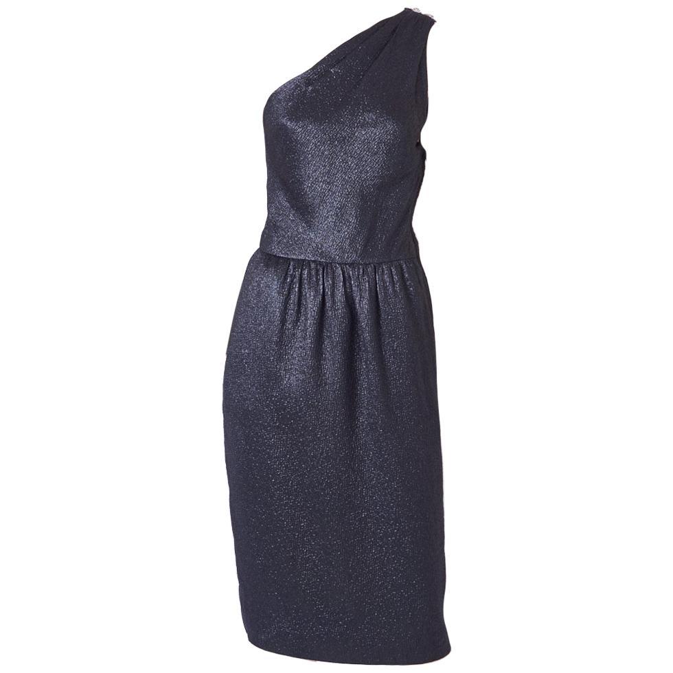 Yves Saint Laurent One Shoulder Cocktail Dress