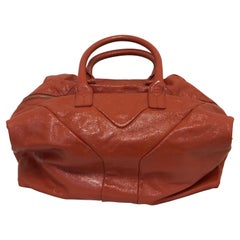 Yves Saint Laurent Orange Patent Leather Easy Y Bag