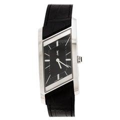 Yves Saint Laurent Paris Black Stainless Rive Gauche Women's Wristwatch 24mm