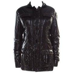 Yves Saint Laurent Paris Black Zip Front Windcheater Jacket M