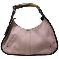 Yves Saint Laurent Pink fabric Brown leather Mombasa Bag
